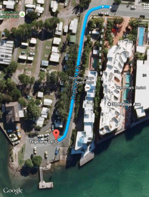 Map from Watermark to our nearest boat ramp