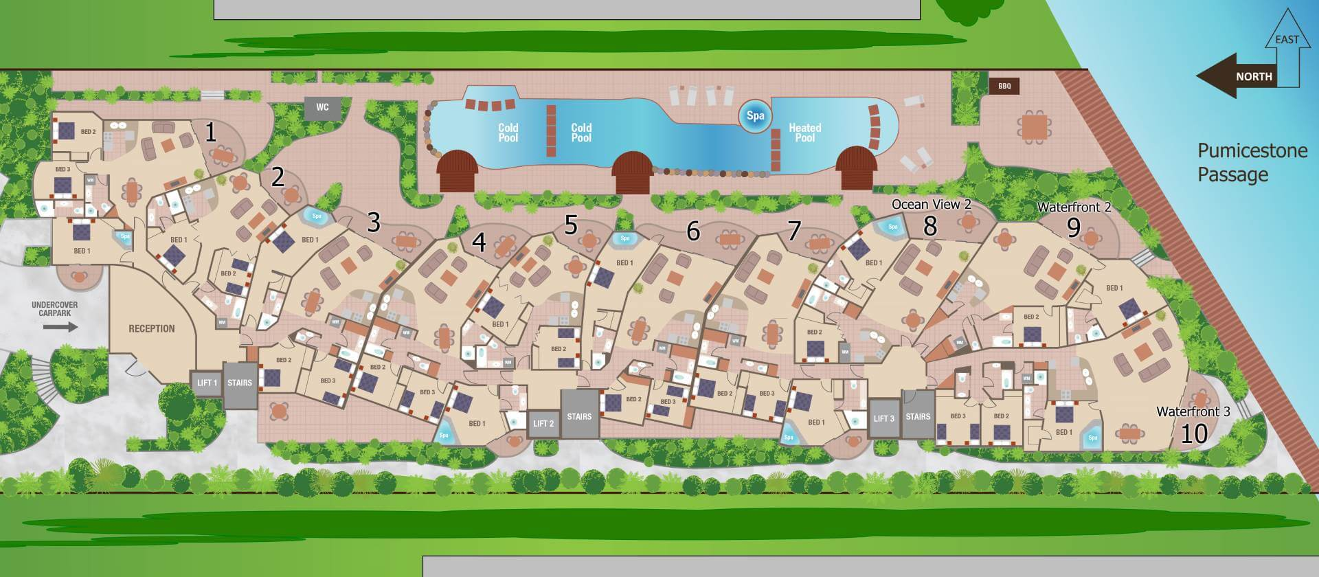 Watermark Resort Siteplan