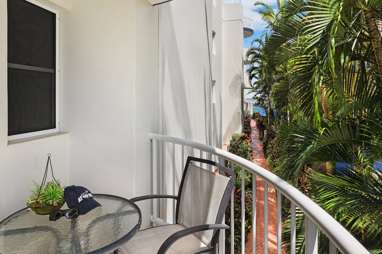 One of our motel room balconies